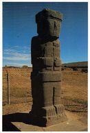 1 AK Bolivien * Statue Von Tiwanaku - Eine Bedeutende Ruinenstätte In Bolivien - Seit 2000 UNESCO Weltkulturerbe * - Bolivien