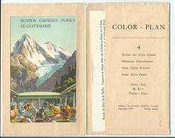 Publicité Route Des Alpes Suisses, Dépliant Gotthard, Furka, Grimsel, Susten (4) 11x18 - Publicités