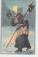 Prosit Neujahr - Alter Mann Mit Horn       (A-98-70619) - Nouvel An