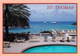 1 AK Insel St. Thomas Amerikanische Jungferninseln U.S. Virgin Islands - Charlotte Amalie - Pool Bluebeard Castle Hotel - Vierges (Iles), Amér.