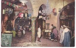 Tunisie -  TUNIS -  Souk Illuminé - 1909 - Túnez