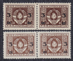 Yugoslavia 1949 Definitive, 3/8 Two Issues - Differences In Colour And Gum, MNH (**) Michel 581 - Imperforates, Proofs & Errors