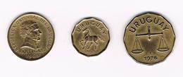 //  URUGUAY 10 PESOS 1968 +  10 En 50 CENTISIMOS 1976 - Uruguay