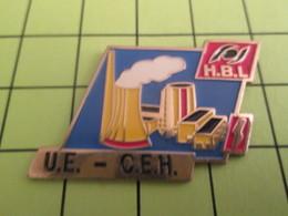 1118c Pin's Pins / Beau Et Rare : THEME : MARQUES / COMITE D'ENTREPRISE CEH HBL CENTRALE ELECTRIQUE ? - Trademarks