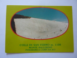 """Cartolina """"COLLI  DI SAN FERMO ( Bergamo ) PANORAMICA CAMPI DA SCI"""" - Bergamo"""