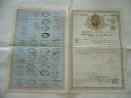 REGNO D'ITALIA DEBITO PUBBLICO REGNO D'ITALIA RENDITA LIRE 10 1884. - Aandelen