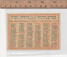 8863 CALENDARIO 1956 - Formato Piccolo : 1941-60
