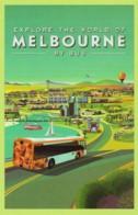 Explore Melbourne By Bus, Victoria - PT Unused - Melbourne