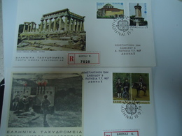 GREECE FDC 2 REGISTERED  EUROPA 79 AND 78 - FDC