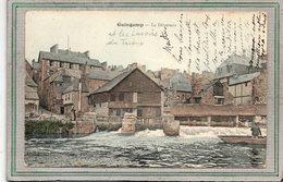 CPA - GUINGAMP (22) - Aspect Des Lavoirs En Amont Du Déversoir Du Trieux En 1907 - Carte Colorisée - Guingamp