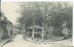 VALLIERES - La Place Du Marché - France