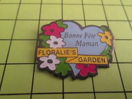 1218c Pin's Pins / Beau Et Rare : THEME : AUTRES / BIONNE FETE MAMAN FLORALIE'S GARDEN - Badges