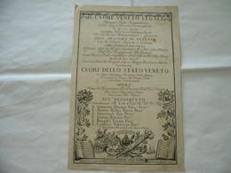 STAMPA REPUBBLICA VENEZIA 1703 DECRETO IL CUORE VENETO LEGALE CUORE DELLO STATO - Stampe & Incisioni
