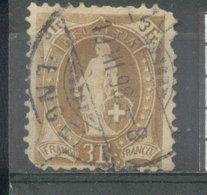 SUIZA - YVERT 80 (#1838) - 1862-1881 Helvetia Sentada (dentados)