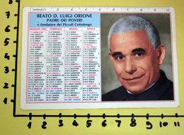 BEATO D. LUIGI ORIONE 1996  CALENDARIO TASCABILE PLASTIFICATO - Calendriers