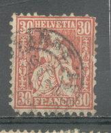 SUIZA - YVERT 38 (#1842) - 1862-1881 Helvetia Sentada (dentados)