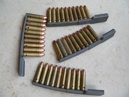 Chargette Et 10 Cartouches Carabine US M1 Ww2 Neutralisées - Armes Neutralisées