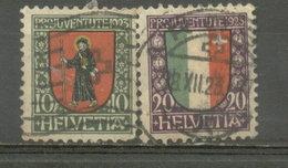 SUIZA - YVERT 193  -  194 (#1847) - Usados