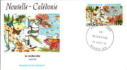 Nouvelle Calédonie FDC N°616  26 Aout 1991 - FDC