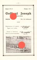 GRAUX METTET  JOSEPH GOFFIOUL  Constructeur De Matériel D' Agriculture - Advertising