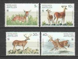 Netherlands Antilles 1992 Mi 739-742 MNH WWF DEER - Unused Stamps