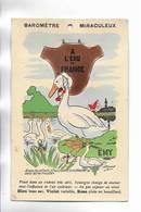 """Carte Fantaisie Illustrée Par EMY """" Baromètre Miraculeux """" A L' écu De France. - Fancy Cards"""