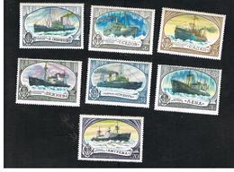 URSS -  YV. 4386.4391  -  1977 SOVIET ICE-BREAKERS SHIPS  (COMPLET SET OF 7)   - MINT** - 1923-1991 UdSSR