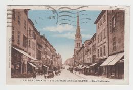 MF416 - VILLEFRANCHE SUR SAONE - Rue Nationale - Attelages - Commerces - Villefranche-sur-Saone