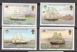 Isle Of Man 1988 Sailing Ships Mi 371-374 MNH(**) - Man (Insel)