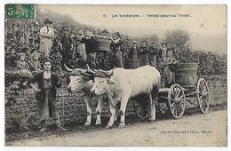 CPA 71 Saône Et Loire Les Vendanges Vendangeurs Au Travail Attelage De Boeufs Près Macon Villefranche Sur Odenas Arnas - Macon