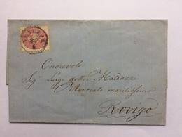 AUSTRIA Wrapper Sent Venezia (Italy) To Rovigo (Italy) Circa 1860`s - 1850-1918 Imperium