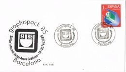 33424. Tarjeta BARCELONA 1985. Salon GRAPHISPACK 85, Artes Graficas - 1931-Hoy: 2ª República - ... Juan Carlos I