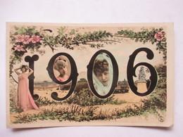 1906 -     FEMMES  EN MEDAILLON            TTB - Nouvel An