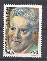 ITALIA  1994 GIOVANNI GENTILI SASS. 2136 MNH XF - 6. 1946-.. Repubblica