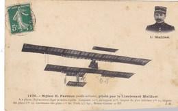 Biplan H. Farman (modèle Militaire), Piloté Par Le Lieutenant Mailfert - Airmen, Fliers