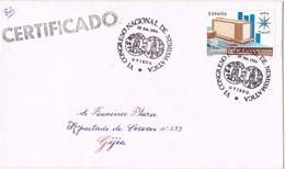 33429. Carta  Certificada OVIEDO  1984. Congreso Numismatica. Resguardo Certificado - 1931-Hoy: 2ª República - ... Juan Carlos I