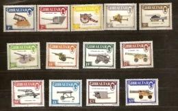 Gibraltar 1987 Yvertn° 536-48 *** MNH Cote 50 Euro Canons - Gibraltar