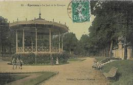 51, Marne, EPERNAY, Le Jard Et Le Kiosque, Scan Recto-Verso - Epernay