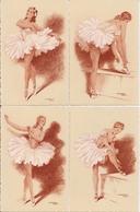 Très Beau Lot Complet De 10 CPA D'Art -  BALLERINES Par Jean Chaperon - Chaperon, Jean