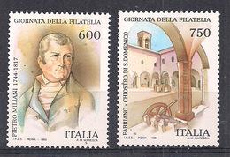 ITALIA  1994 GIORNATA DELLA FILATELIA SASS. 2125-2126 MNH XF - 6. 1946-.. Repubblica