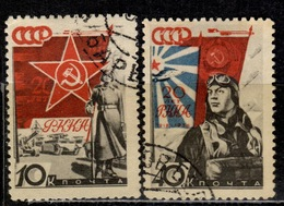 SU+ Sowjetunion 1938 Mi 588 591 Rote Armee - Used Stamps