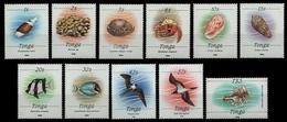 Tonga 1988 - Mi-Nr. 1037-1047 II ** - MNH - Meerestiere / Marine Life - Tonga (1970-...)