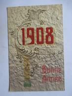 1908        FEUILLE D'ACANTHE       GAUFFREE               TTB - Nouvel An