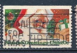 USA 1983 Mi. 1664 Oben Geschnitten Gest. Weihnachten Weihnachtsmann - Etats-Unis