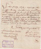 """FRANCE : DATE DE """" SAINTES """" . D'UN GENERAL ESPAGNOL PRISONNIER DE GUERRE . 1812 . - Documents"""