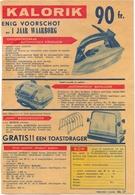 Pub Reclame - Blz Uit Magazine Publi Post - Elektrische Toestellen Kalorik - 1955 - Werbung
