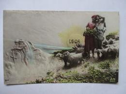 1909     BERGERS ET MOUTONS   -  MASTROANNI          TTB - Nouvel An