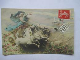 1909     FEMME SUR UN CHAR ....   MASTROANNI            TTB - Nouvel An