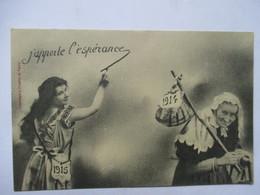1915     JEUNE  FEMME  ET  VIEILLE FEMME ....            TTB - Nouvel An