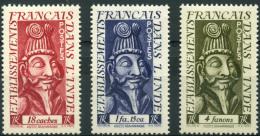 Inde (1952) N 255 à 257 * (charniere) - India (1892-1954)